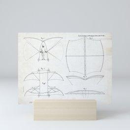 Sir George Cayley Man-Powered Flying Machine Mini Art Print