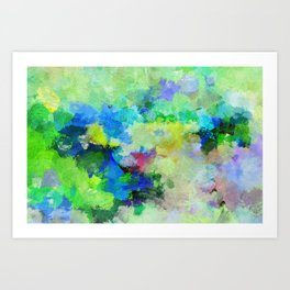 Original Green Abstract Painting on Canvas Art Print
