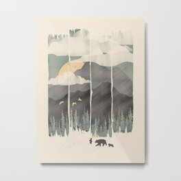 Spring Mountain Weather Metal Print