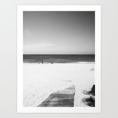 Toora Beach Black and White Art Print