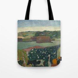Paul Gauguin - Haystacks in Brittany Tote Bag