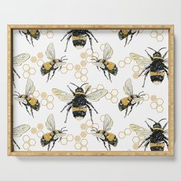 Bees an Honeycombs Serving Tray