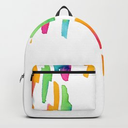 Abstract Painting Modern Art watercolor abstract art minimalist Follow Your Heart no.5 Backpack