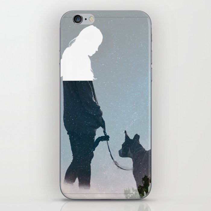 FRIENDSHIP in the space iPhone Skin
