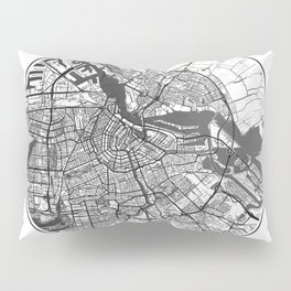 Amsterdam Map Universe Pillow Sham