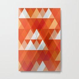 Modern Abstract Geometric Metal Print