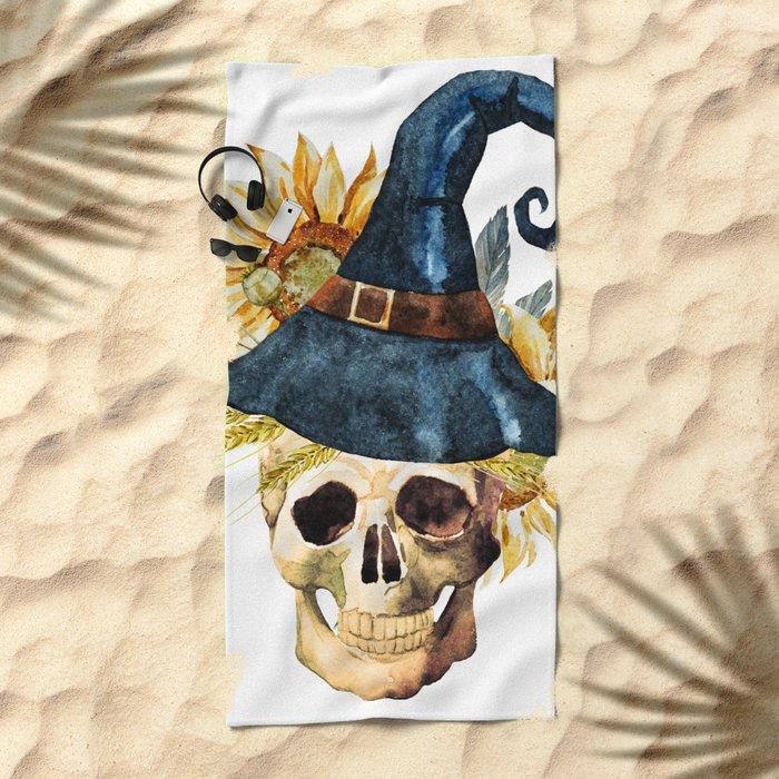 Skull 05 Beach Towel