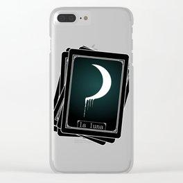 Luna Tarot Card Clear iPhone Case