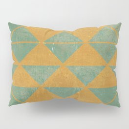 Emerald and Gold Marble Design Pillow Sham