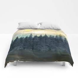 Forest Under the Sunset II Comforters