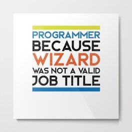 Programmer Wizard Metal Print