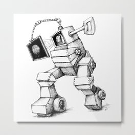 THUMBATRON for dark tees Metal Print
