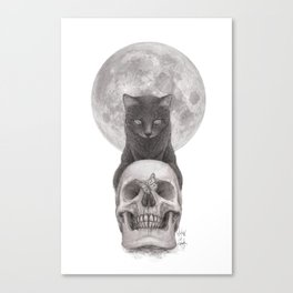Moon Cat Canvas Print