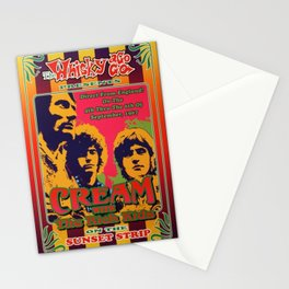 Vintage Rare 1967 Cream Whiskey A Go Go - Sunset Strip - Concert Gig Poster Stationery Cards