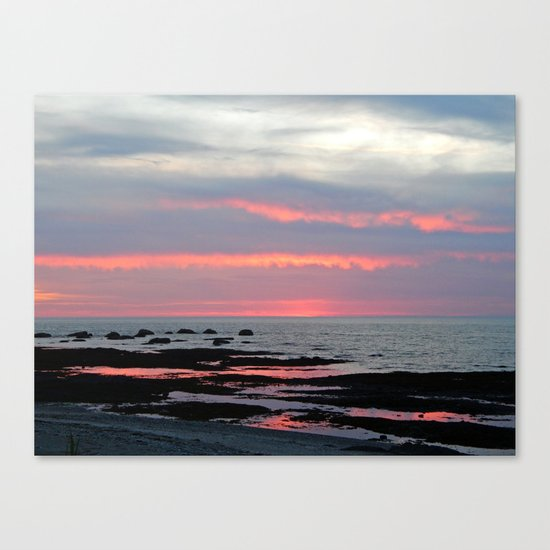 Texture Filled Clouds Canvas Print