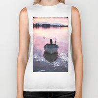 boat Biker Tanks featuring Boat by Dora Birgis