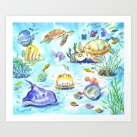 Sea World I Art Print