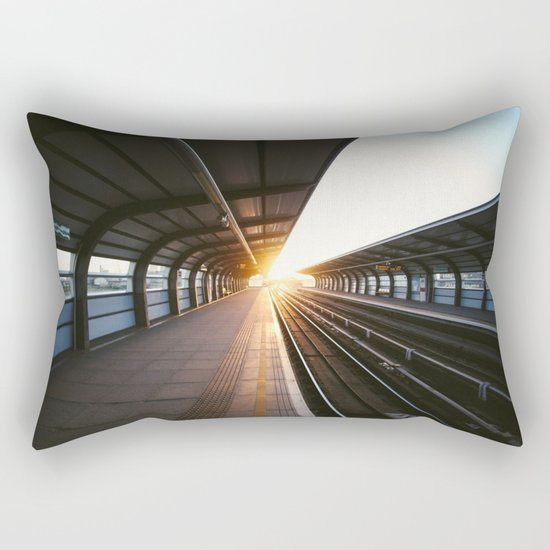 The light at the end of the tunnel Rectangular Pillow