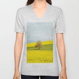 One Tree Hill landscape photograph Unisex V-Neck