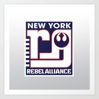 nfl Art Prints featuring NY Rebel Alliance - NFL by Steven Klock