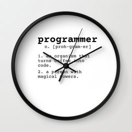 Programmer meaning Wall Clock