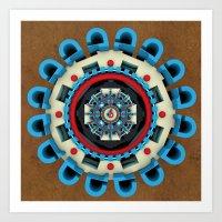 sacred geometry Art Prints featuring Sacred Geometry by Angel Decuir