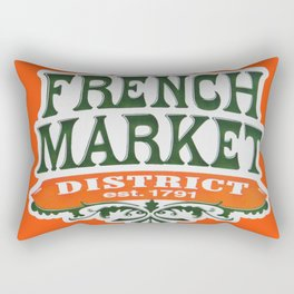 Signs: The French Market Rectangular Pillow