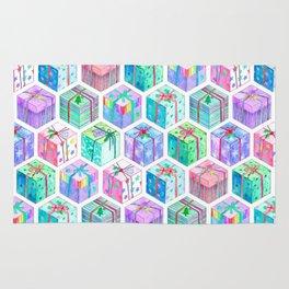 Christmas Gift Hexagons Rug