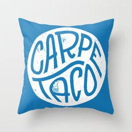 Carpe Taco Throw Pillow