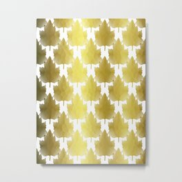 Golden Maple Leaves Metal Print