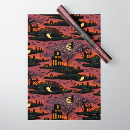 Halloween Night - Bonfire Glow Wrapping Paper
