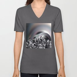 Complexity under smooth simplicity - Abstract play with focus Unisex V-Neck