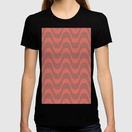 Ombre Coral Copa Cabana Summer Waves T-shirt