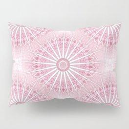 Dusky Pink Mandala Pillow Sham