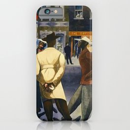 Harlem Sunday Morning African American Masterpiece by E. Burra iPhone Case