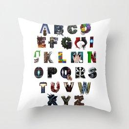 Geek's Alphabet Throw Pillow