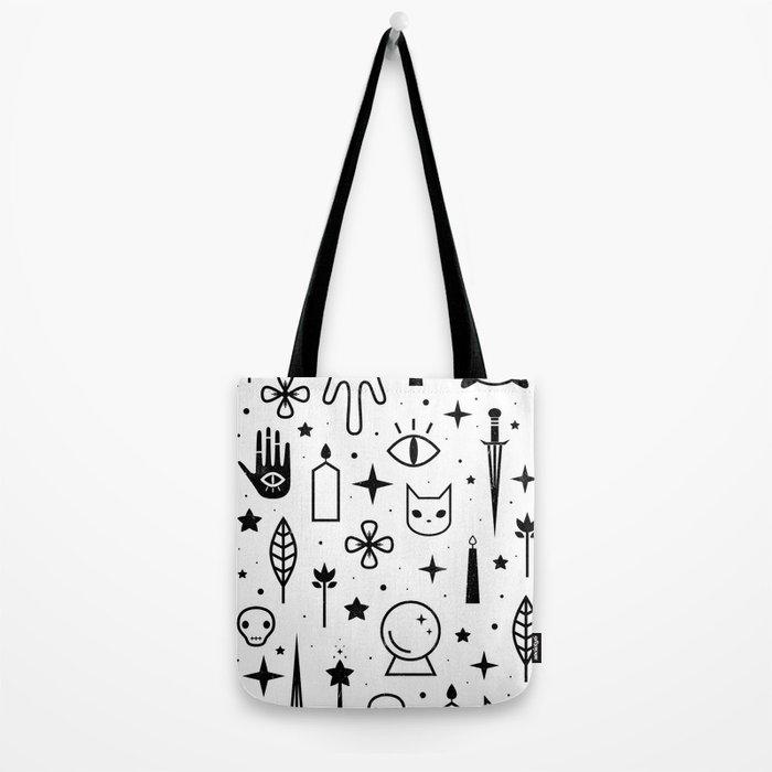 Spirit Symbols White Tote Bag
