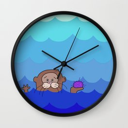 Otterly Delightful Wall Clock