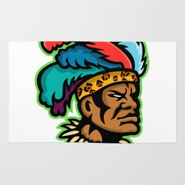 Zulu Warrior Head Mascot Rug