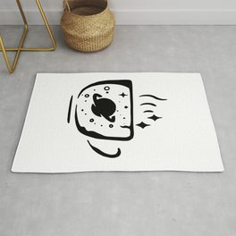 Funny gifts for coffee lovers Planets space stars galaxy black coffee cute funny caffeine Rug