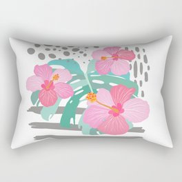 Light Hibiscus Rectangular Pillow