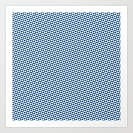 Baby Sharkstooth Sharks Pattern Repeat in White and Blue Art Print
