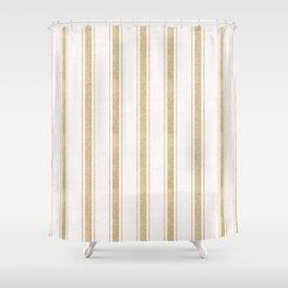 AEGEAN JUTE STRIPE Shower Curtain