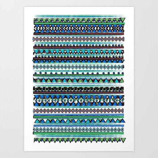Dark Bandana Art Print