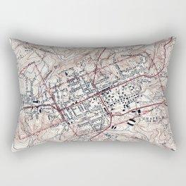 Vintage Map of Chapel Hill North Carolina (1946) Rectangular Pillow