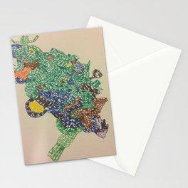 Crazy Face Pattern Stationery Cards