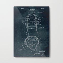 1922 - Football Helmet patent art Metal Print
