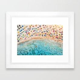 Fairy Bread Beach Framed Art Print