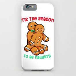 Naughty Gingerbread Couple Christmas Present funny iPhone Case