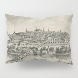 Vintage Pictorial Map of Richmond VA (1876) Pillow Sham
